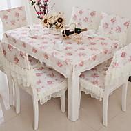 billige Bordduker-Moderne 100g / m2 Polyester Strik Stretch Kvadrat Duge Blomstret Borddekorasjoner 1 pcs