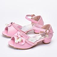 tanie Obuwie dziewczęce-Dla dziewczynek Obuwie Sztuczna skóra Lato Buty dla małych druhen Szpilki Perła na Dzieci White / Różowy