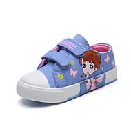 baratos Sapatos de Menina-Para Meninas Sapatos Lona Outono & inverno Conforto Tênis Caminhada Presilha para Infantil Azul Escuro / Rosa claro / Azul Claro