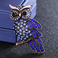 בגדי ריקוד גברים ספיר זירקונה מעוקבת סגנון וינטג' מסוגנן תפס לשיער יהלום מדומה ציפור פאר אופנתי בריטי סִכָּה תכשיטים כחול עבור יומי חגים