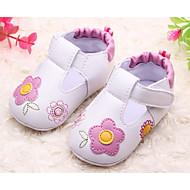baratos Sapatos de Menina-Para Meninas Sapatos Couro Ecológico Verão Primeiros Passos Sandálias Velcro para Bebê Azul / Rosa claro