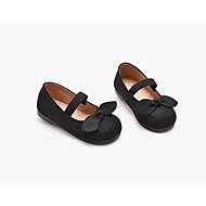 baratos Sapatos de Menina-Para Meninas Sapatos Camurça Verão Sapatos para Daminhas de Honra Rasos Laço / Velcro para Infantil Preto / Vinho
