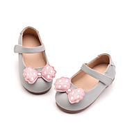 baratos Sapatos de Menina-Para Meninas Sapatos Couro Ecológico Verão Primeiros Passos Rasos Laço / Velcro para Bébé Preto / Cinzento