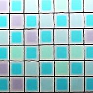 tanie סרטים ומדבקות לחלון-Folie okienne i naklejki Dekoracja Nowoczesny Geometric Shape Polichlorek winylu Naklejka okienna