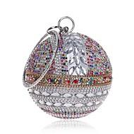 baratos Clutches & Bolsas de Noite-Mulheres Bolsas Poliéster / Liga Bolsa de Festa Detalhes em Cristal Dourado / Prata / Vermelho