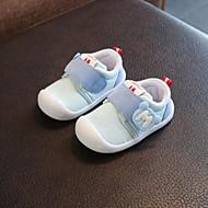 baratos Sapatos de Menino-Para Meninos / Para Meninas Sapatos Algodão Primavera & Outono Primeiros Passos Rasos Velcro para Bébé Cinzento / Azul / Rosa claro