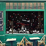 baratos Películas e Adesivos de Janela-Filme de Janelas e Adesivos Decoração Natal Sólido / Poá / Férias PVC Brilho / Adesivo de Janela