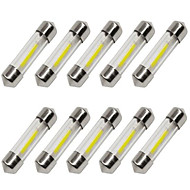 10pcs 36mm Bil Elpærer 1 W COB 80 lm 1 LED Blinklys / Indvendige Lights Til Universel