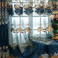 Moderne Rideaux opaques Deux Panneaux Pur / Broderie / Chambre à coucher