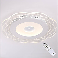 billige Udsalg-CXYlight Lineær Takplafond Omgivelseslys Malte Finishes Metall Akryl Mulighet for demping, Fargenivåer 110-120V / 220-240V Dimbar med fjernkontroll LED lyskilde inkludert / Integrert LED