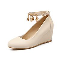 baratos Sapatos Femininos-Mulheres Sapatos Couro Sintético Primavera Plataforma Básica Saltos Salto Plataforma Branco / Preto