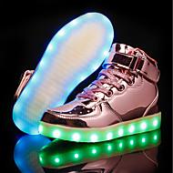 baratos Sapatos de Menina-Para Meninas Sapatos Couro Ecológico Outono & inverno Conforto / Tênis com LED Tênis LED para Dourado / Prata / Rosa claro