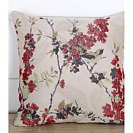 baratos Conjuntos de Almofadas-1 pçs Poliéster Cobertura de Almofada, Jacquard / Flor / Floral Moderno / Contemporâneo / Pastoril
