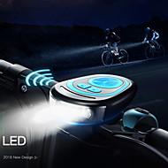 billige Sykkellykter og reflekser-Bike Horn Light LED Sykling Vanntett, Justerbar, Lettvekt 250 lm USB-ladet Sykling