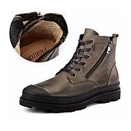baratos Sapatos Masculinos-Homens Coturnos Pele Napa Outono / Inverno Formais Botas Não escorregar Botas Curtas / Ankle Preto / Marron