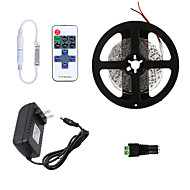 Χαμηλού Κόστους Φωτιστικά Λωρίδες LED-HKV 5m Ευέλικτες LED Φωτολωρίδες / Σετ Φώτων 300 LEDs 3528 SMD 1 11Μεταχειριστής τηλεχειρισμού / 1 x 2A τροφοδοτικό Θερμό Λευκό / Ψυχρό Λευκό / Κόκκινο Μπορεί να κοπεί / Συνδέσιμο / Αυτοκόλλητο