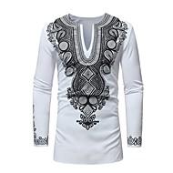 Herre - Geometrisk Trykt mønster T-shirt