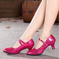 billige Moderne sko-Dame Moderne sko Syntetisk Høye hæler / Joggesko Strå Kubansk hæl Kan spesialtilpasses Dansesko Rød / Blå / Rosa