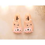 baratos Sapatos de Menina-Para Meninas Sapatos PVC Verão Plástico Rasos Velcro para Bébé Preto / Fúcsia / Rosa claro