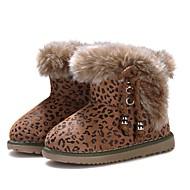 baratos Sapatos de Menina-Para Meninas Sapatos Camurça Outono & inverno Botas de Neve Botas Mocassim para Bebê Leopardo / Botas Curtas / Ankle