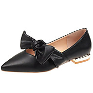 Women's Comfort Shoes PU(Polyurethane) Summer Sweet Flats Flat Heel Pointed Toe Black / Beige / Yellow