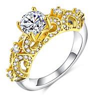 Dame Klassisk / Skulptur Ring - 18K Guldbelagt, Simuleret diamant Kostbar Klassisk, Elegant, Britisk 6 / 7 / 8 Guld Til Bryllup / Fest