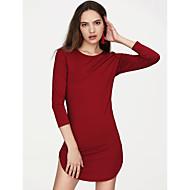 Per donna Serata Skinny Attillato Vestito - Spacco, Tinta unita Mini Bianco / Sexy