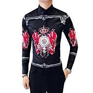 Pánské - Etno Větší velikosti Košile Bavlna / Dlouhý rukáv