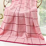 baratos Toalha de Banho-Qualidade superior Toalha de Banho, Xadrez 100% algodão Banheiro 1 pcs