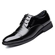 baratos Sapatos Masculinos-Homens Sapatos formais Couro Ecológico Outono Oxfords Preto