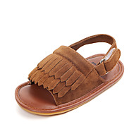 baratos Sapatos de Menina-Para Meninas Sapatos Couro Ecológico Verão Primeiros Passos Sandálias Mocassim / Velcro para Bebê Vermelho / Verde / Rosa claro
