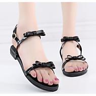 baratos Sapatos Femininos-Mulheres Sapatos Couro Sintético Verão Conforto Sandálias Sem Salto Branco / Preto / Cinzento