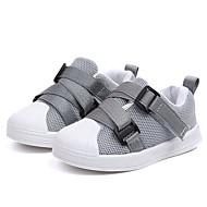 baratos Sapatos de Menino-Para Meninos Sapatos Couro Ecológico Primavera & Outono Conforto Tênis Corrida / Caminhada Cadarço / Tira Trançada para Bébé Preto / Cinzento / Rosa claro