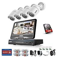 cheap DVR Kits-BNC 960H Real Time (960*576) 4 pcs 720P Bullet 30 m 1TB
