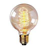 billige Glødelampe-1pc 40 W E26 / E27 G80 Varm hvit 2200-2700 k Kontor / Bedrift / Mulighet for demping / Dekorativ Glødende Vintage Edison lyspære 220-240 V