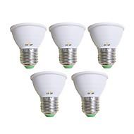 billige Spotlys med LED-EXUP® 5pcs 5 W 450 lm E26 / E27 LED-spotpærer 1 LED perler COB Varm hvit / Kjølig hvit 85-265 V