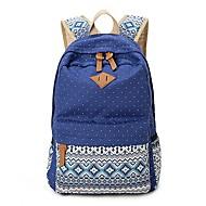 baratos Mochilas-Unisexo Bolsas Tela de pintura mochila Estampa Azul Céu / Khaki / Azul Real