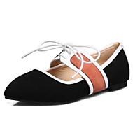 baratos Sapatos Femininos-Mulheres Sapatos Pêlo Sintético Primavera / Verão Conforto Rasos Sem Salto Dedo Fechado Preto / Cinzento / Rosa claro