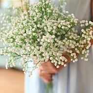 billige Kunstige blomster-Kunstige blomster 12 Gren Klassisk Moderne Brudeslør Bordblomst