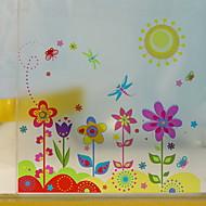 tanie סרטים ומדבקות לחלון-Folie okienne i naklejki Dekoracja Wzory Kwiaty / Charakter Polichlorek winylu Śłodkie