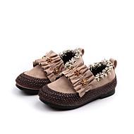 baratos Sapatos de Menina-Para Meninas Sapatos Couro Ecológico Outono & inverno Sapatos para Daminhas de Honra Mocassins e Slip-Ons Caminhada para Infantil Preto / Bege / Rosa claro