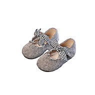 baratos Sapatos de Menina-Para Meninas Sapatos Cetim Primavera & Outono Conforto Rasos para Preto / Cinzento