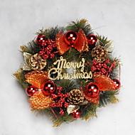 Χαμηλού Κόστους Χριστουγεννιάτικα Διακοσμητικά-Γιρλάντες Διακοπών Πλαστική ύλη Κυκλικό Πρωτότυπες Χριστούγεννα Διακόσμηση