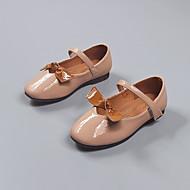 baratos Sapatos de Menina-Para Meninas Sapatos Couro Ecológico Verão Conforto Rasos Laço / Velcro para Infantil Preto / Khaki