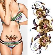 billiga Temporära tatueringar-2 pcs Tatueringsklistermärken tillfälliga tatueringar Totemserier / Blomserier Miljövänlig / Ny Design Body art Kropp / arm / Bröst / Dekalstil tillfälliga tatueringar / Tattoo Sticker