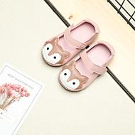 baratos Sapatos de Menina-Para Meninas Sapatos Microfibra Verão Conforto Rasos Velcro para Bébé Branco / Preto / Rosa claro
