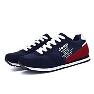baratos Sapatos Masculinos-Homens Sapatos Confortáveis Couro Primavera & Outono / Inverno Casual Tênis Respirável Preto / Azul