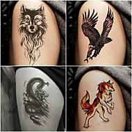 billiga Temporära tatueringar-10 pcs tillfälliga tatueringar Totemserier / Djurserier Lena klistermärken / Säkerhet Body art arm / Dekalstil tillfälliga tatueringar