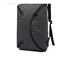 Unisex Bags Cotton Backpack Zipper Solid Color Black / Gray