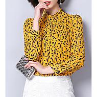 women's work blouse - floral crew neck